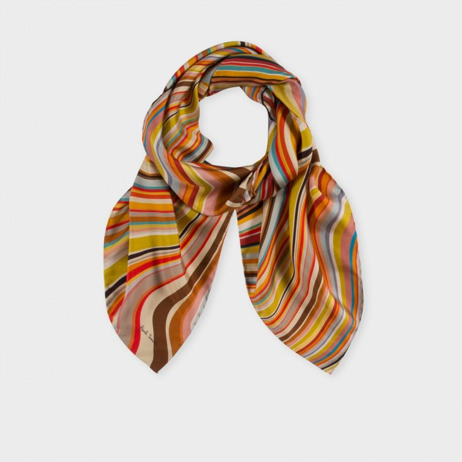 paul smith s large square silk scarf with swirl