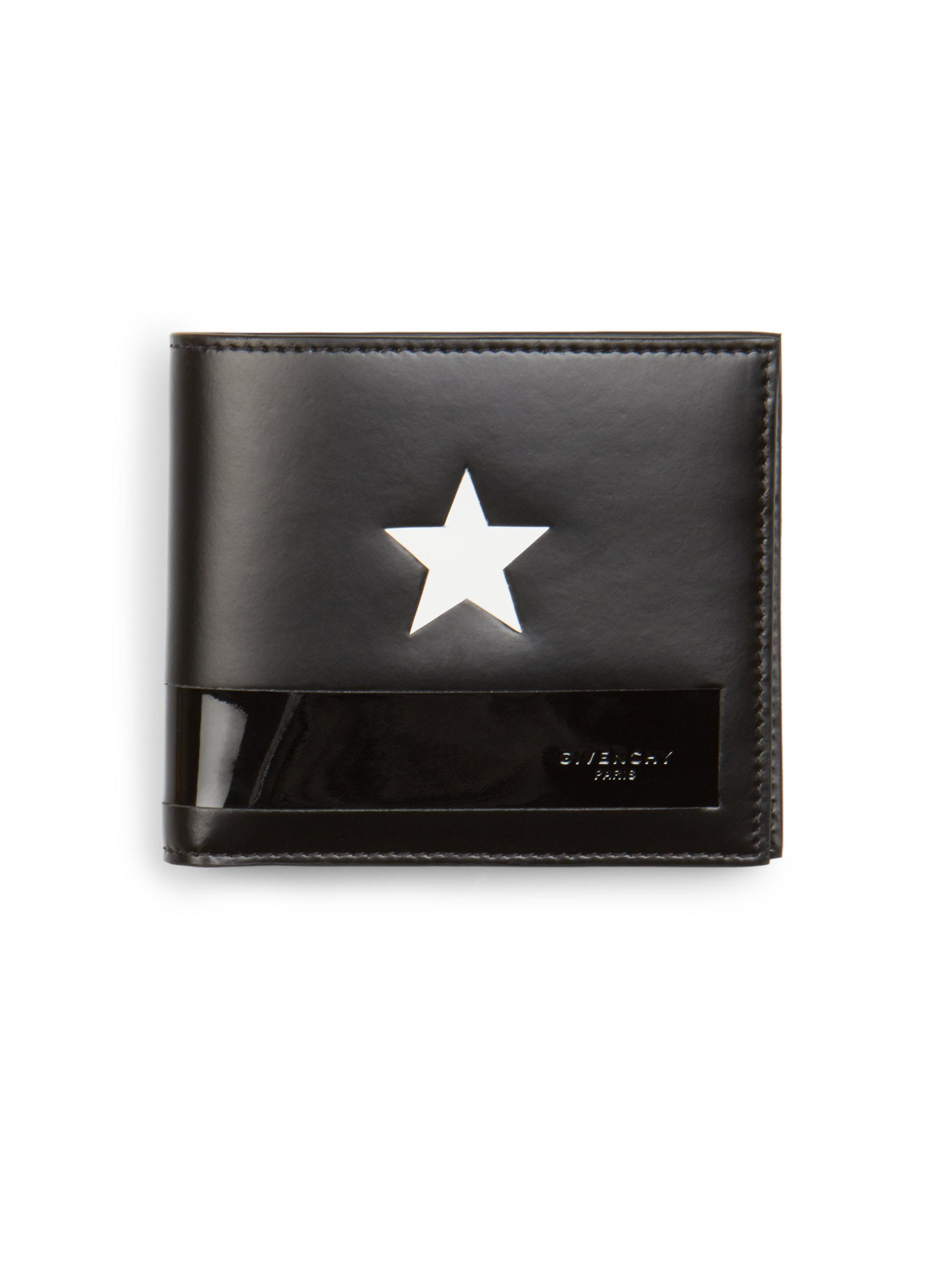 6728e740f2 Givenchy Star & Stripe Billfold Wallet in Black for Men - Lyst