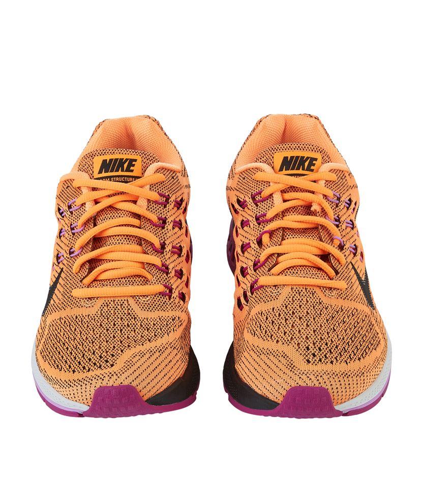 Orange Nike Hightop Sock Shoes