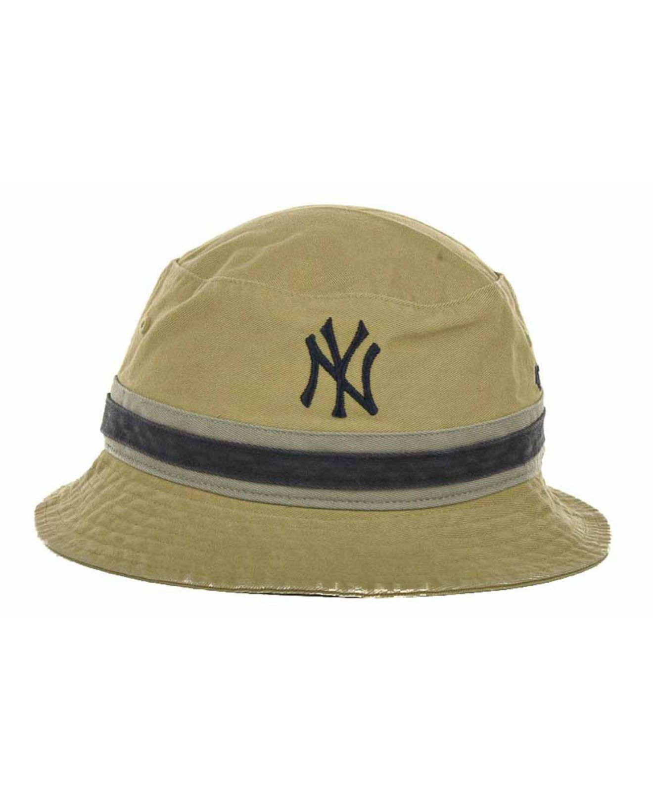 Lyst - 47 Brand New York Yankees Striped Bucket Hat in Natural d295350585c