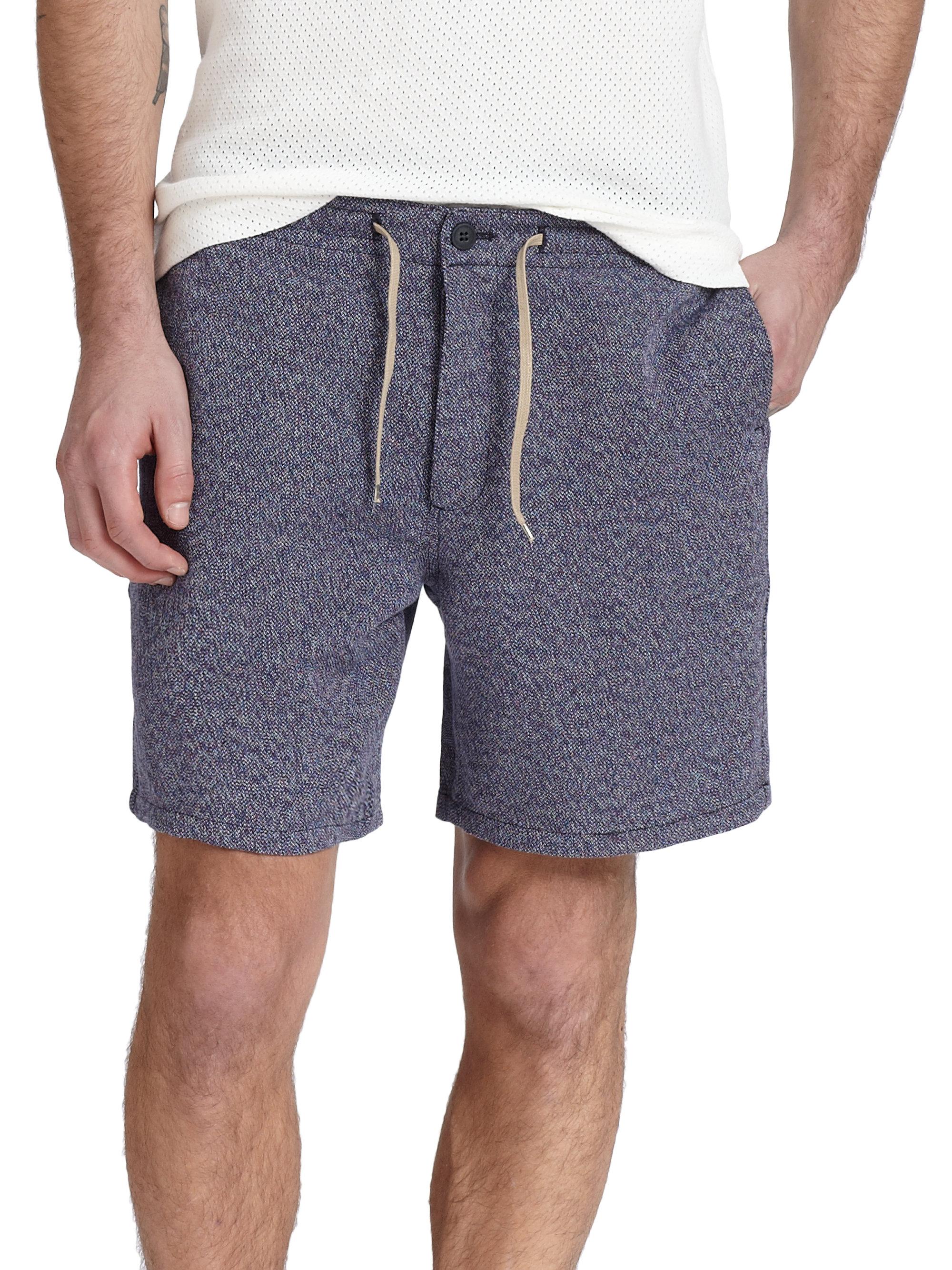 Ymc Linen & Cotton Shorts in Blue for Men | Lyst
