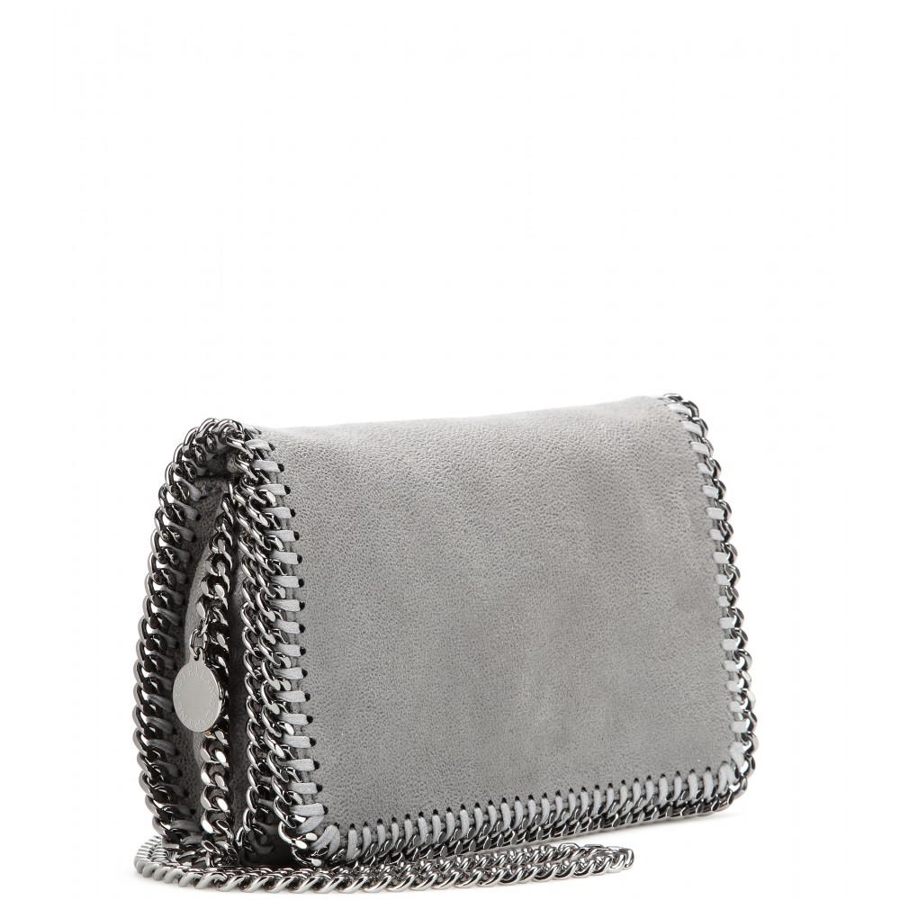 2ba36c51e428 Lyst - Stella McCartney Falabella Shaggy Deer Mini Shoulder Bag in Gray