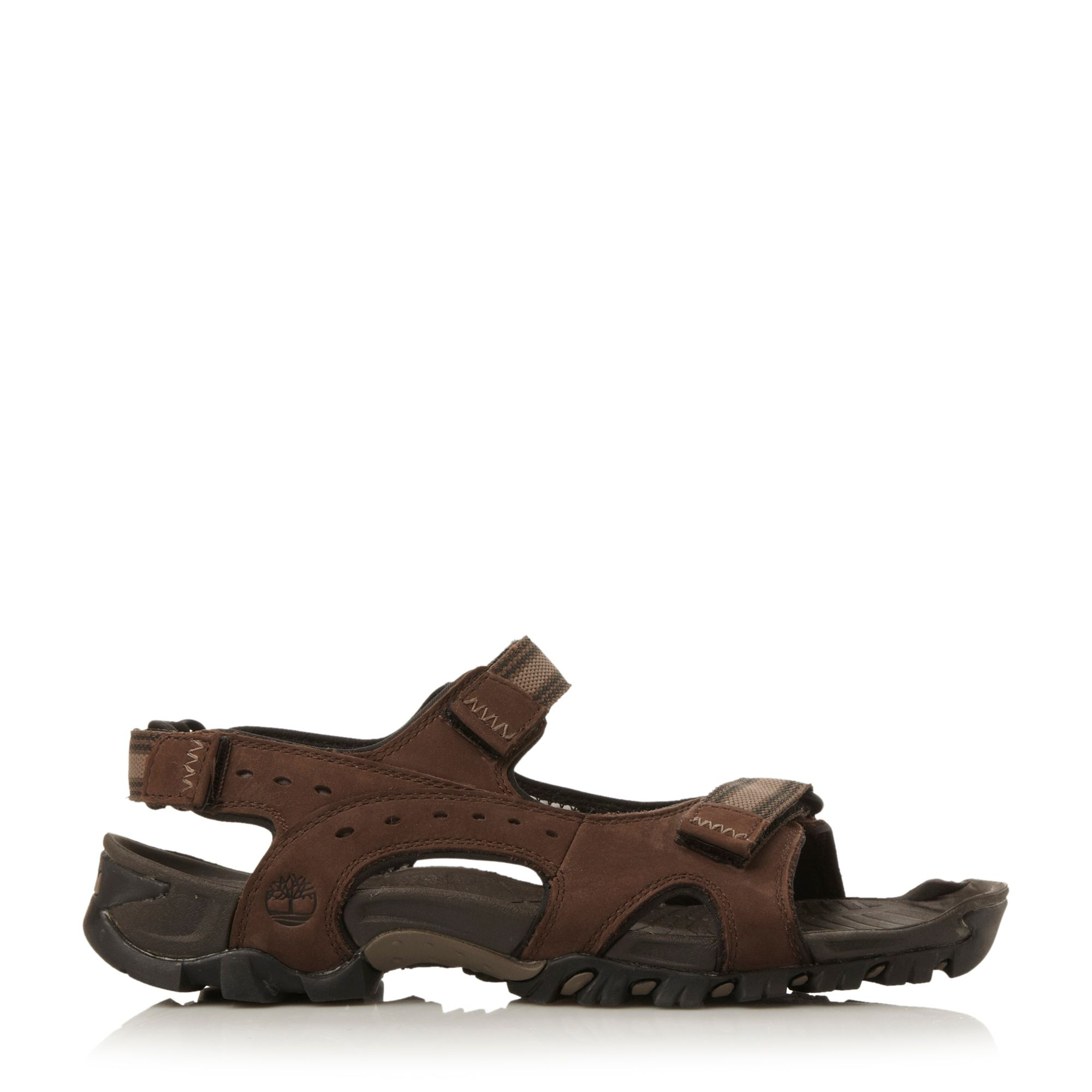 timberland velcro strap casual sandals in brown for men lyst. Black Bedroom Furniture Sets. Home Design Ideas