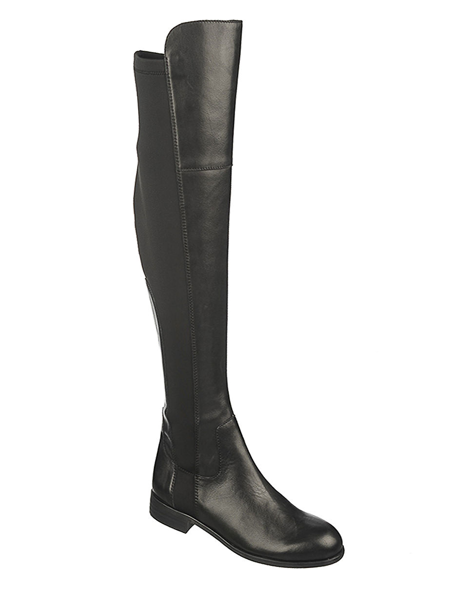 franco sarto motor leather knee high boots in black lyst