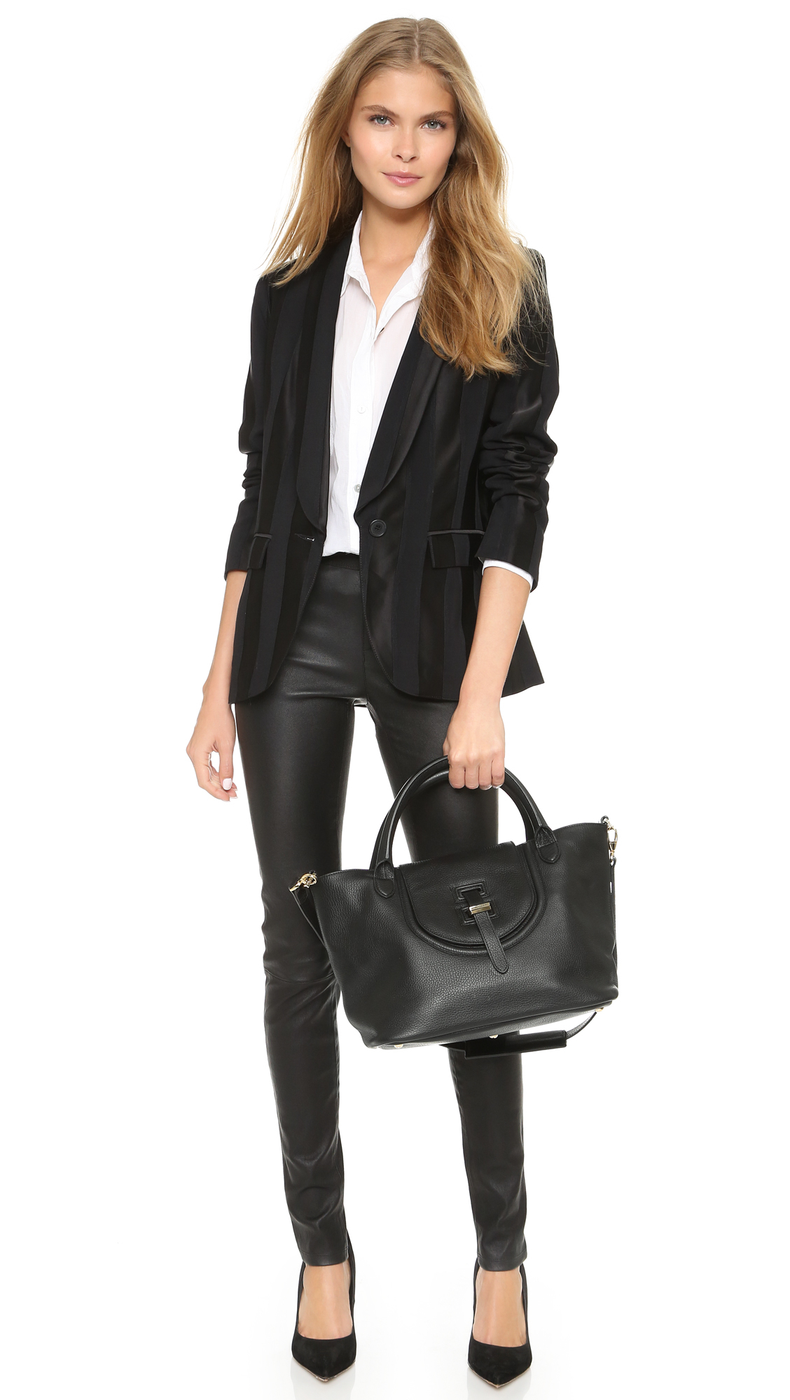 meli melo classic medium thela halo bag in black lyst. Black Bedroom Furniture Sets. Home Design Ideas