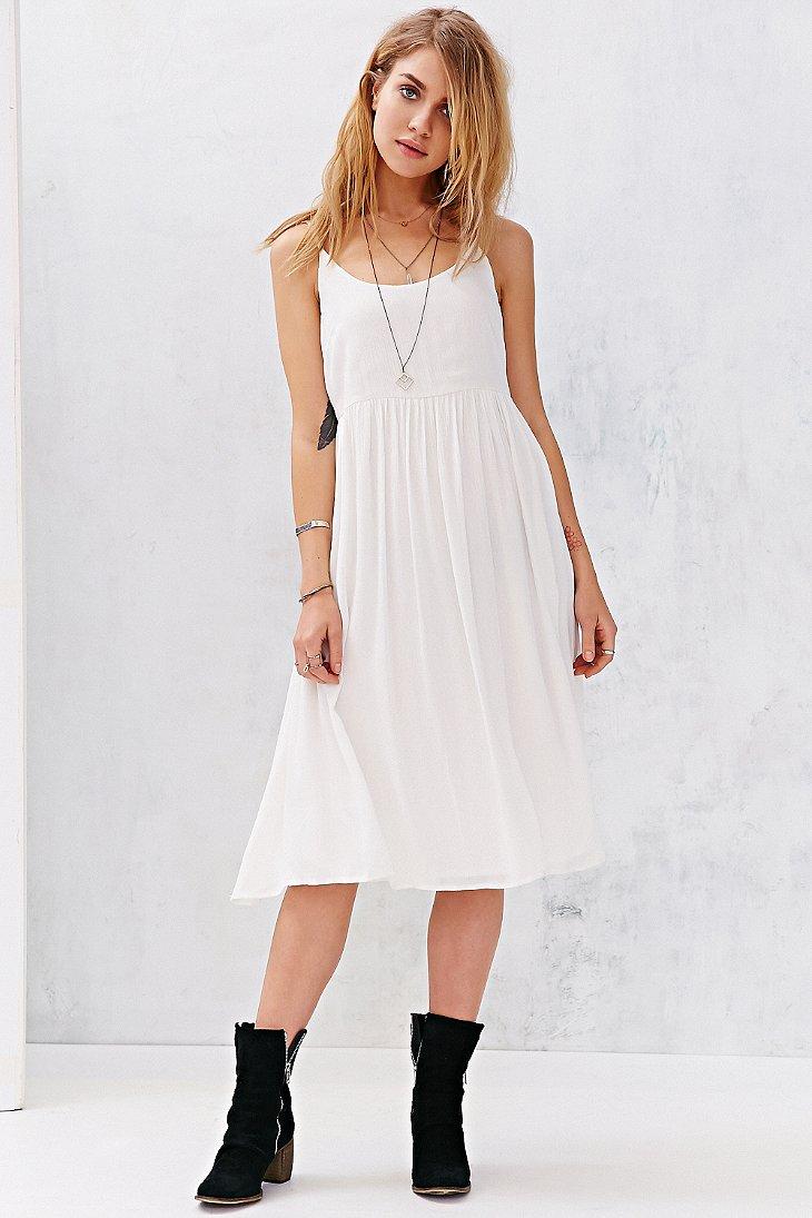 Gauzy white dress