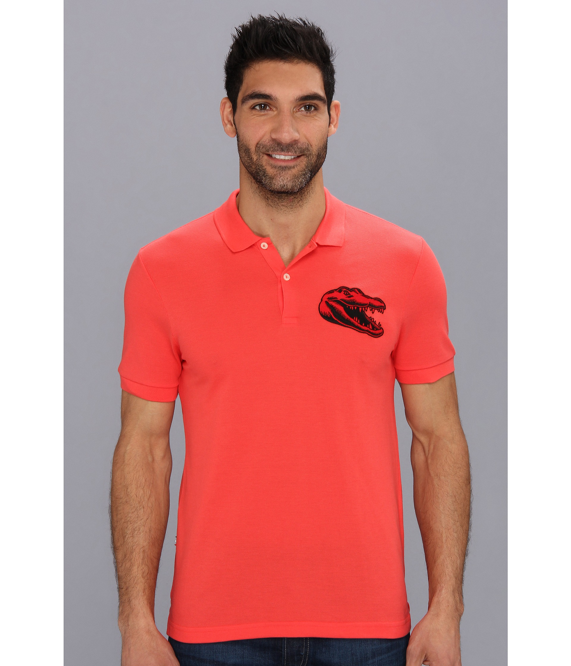 a99767ab Lacoste Live Polo Shirt With Large Crocodile