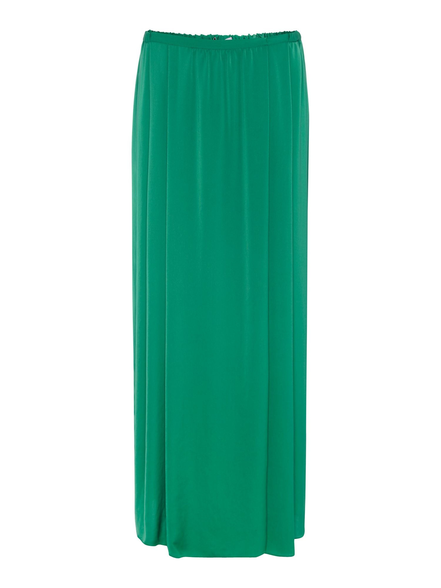 persona plus size silk maxi skirt with split in green lyst