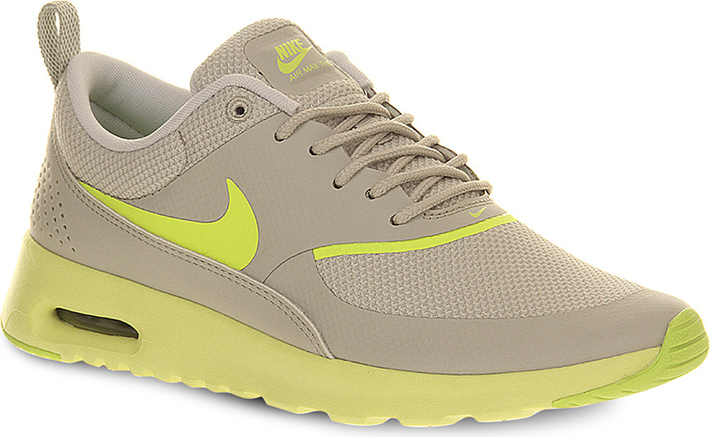 nike air max thea trainers light bone volt in beige for. Black Bedroom Furniture Sets. Home Design Ideas