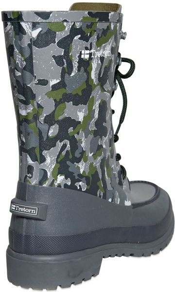 White Mountaineering Camouflage Printed Rubber Rain Boots