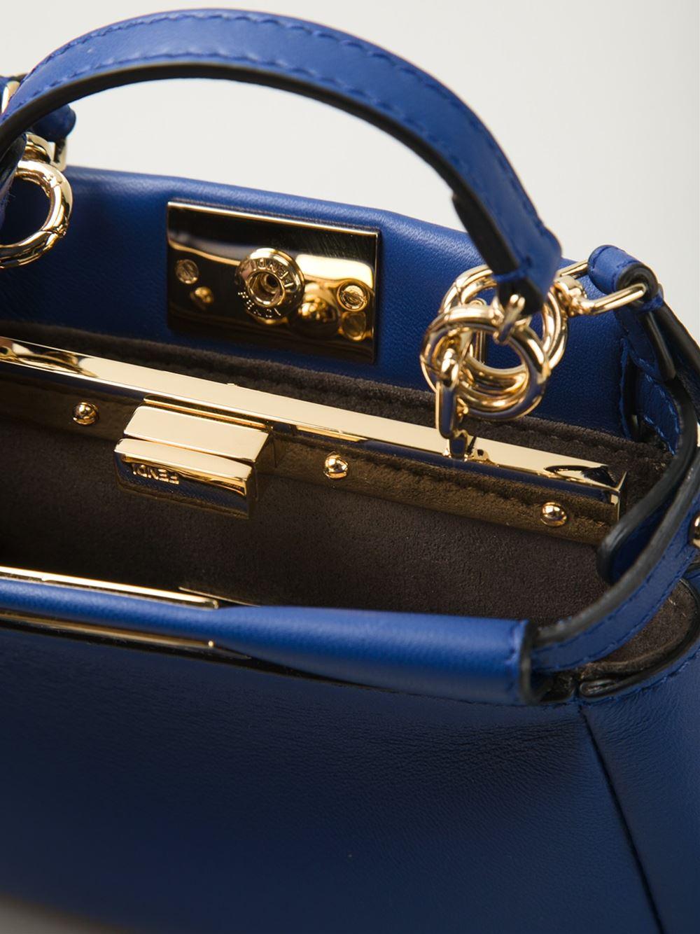 Fendi Peekaboo Navy Blue
