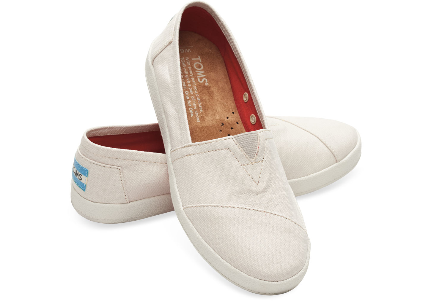 0ce757497f9b TOMS Natural Coated Canvas Women s Avalon Slip-ons in Natural - Lyst