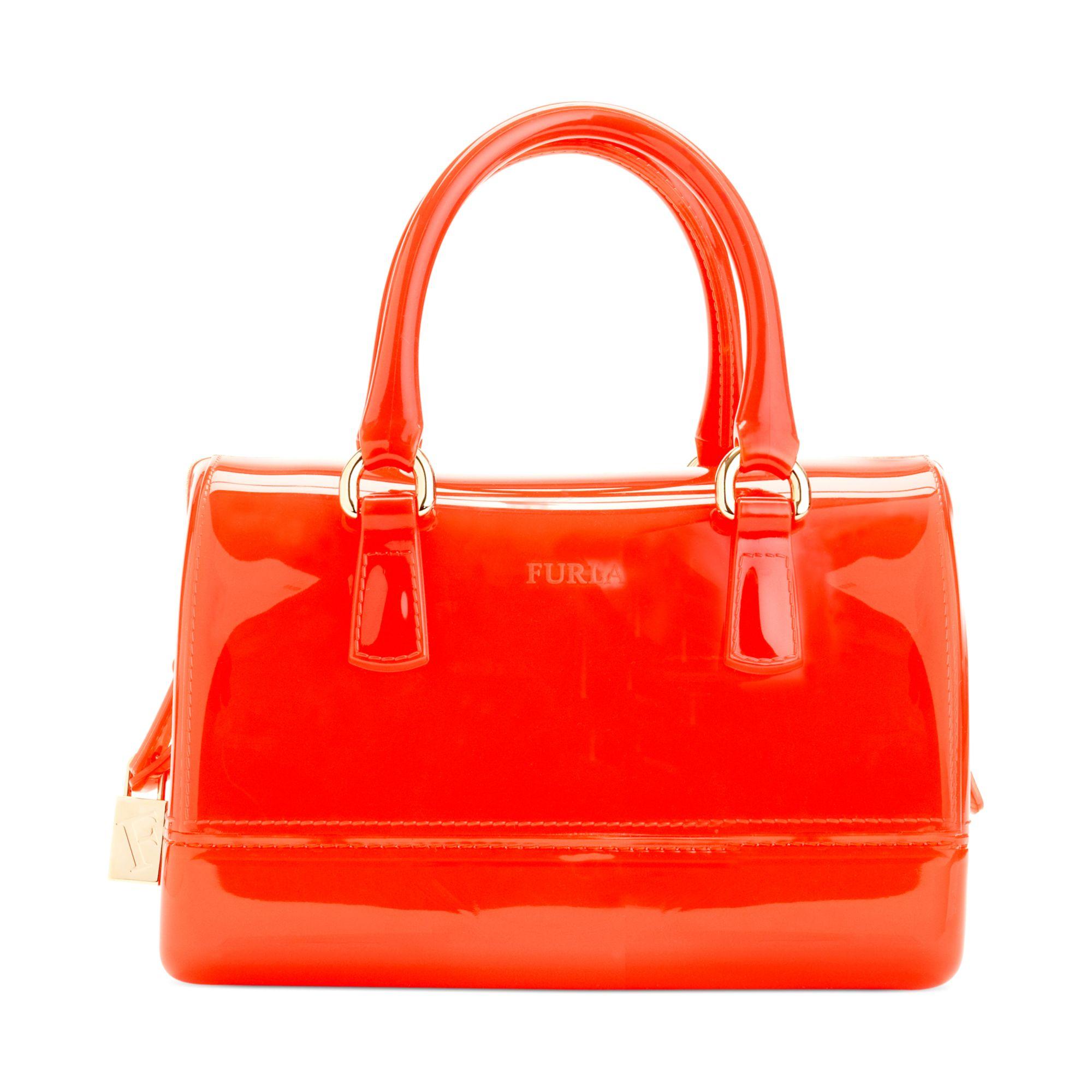 furla mini bauletto bag in orange speed lyst