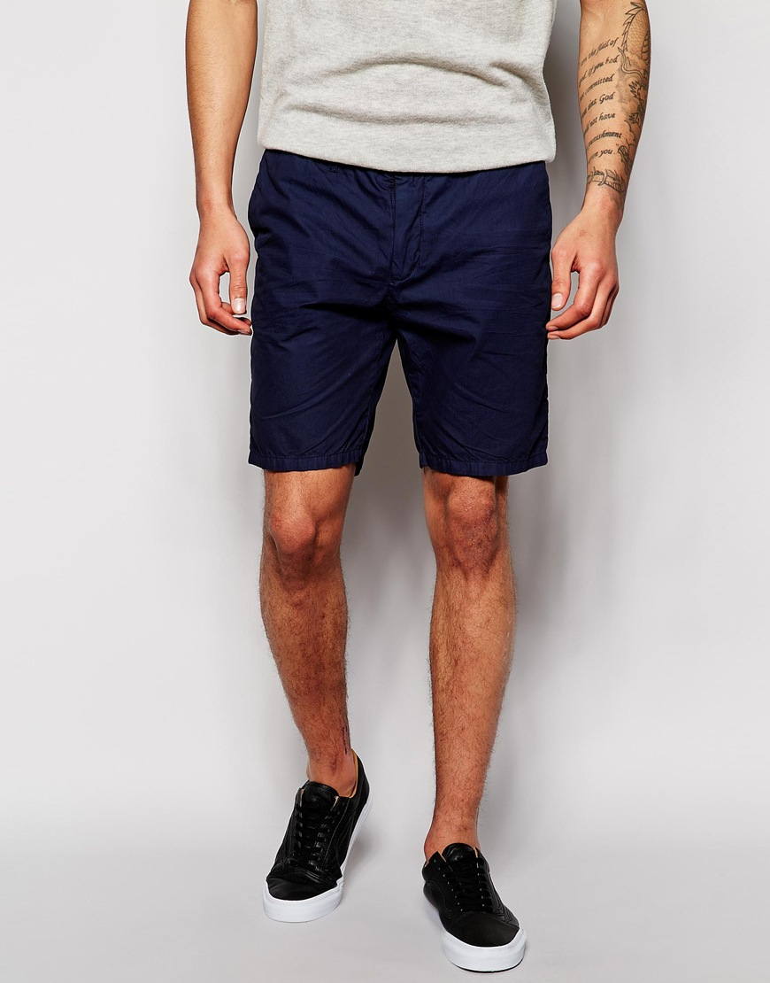 Scotch & soda Chino Shorts in Blue for Men | Lyst