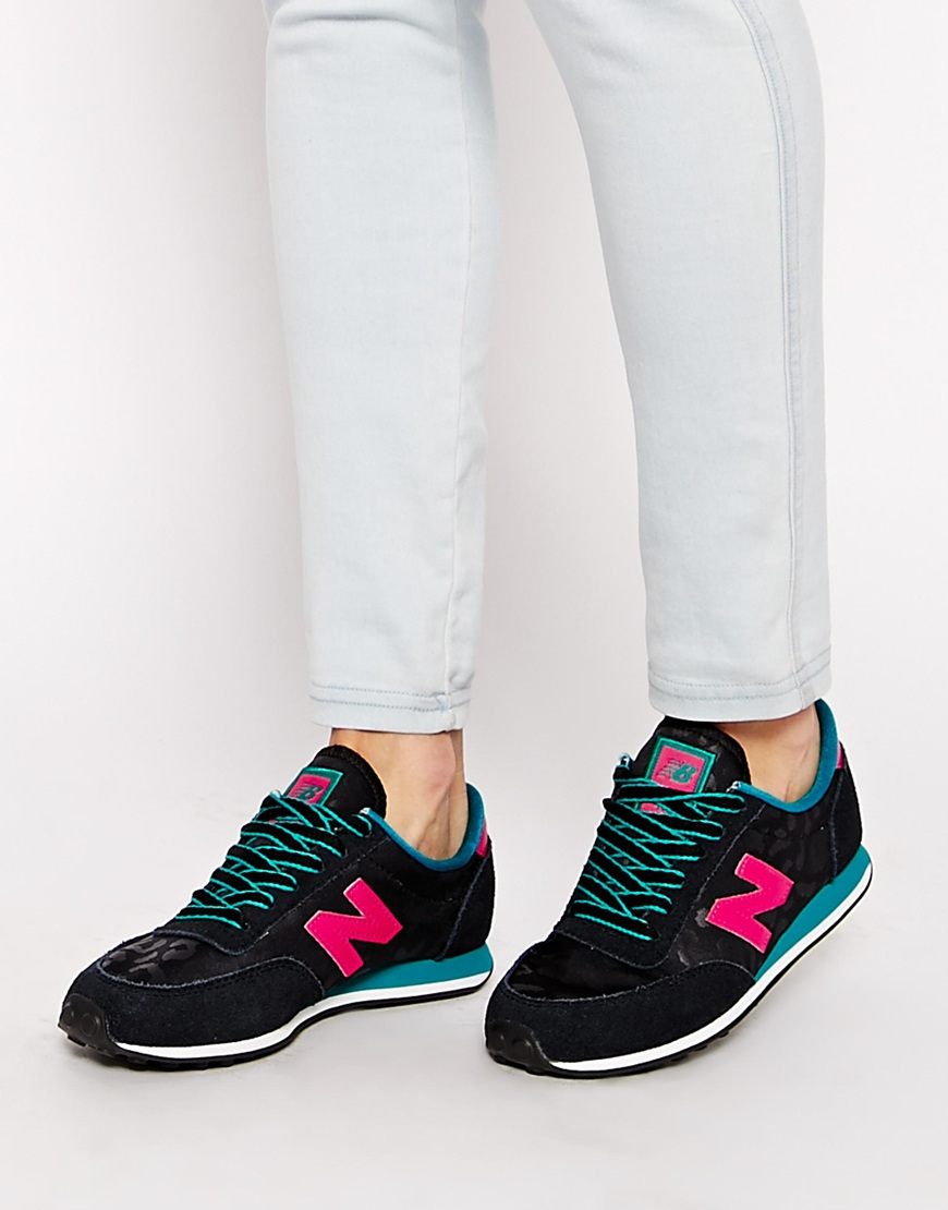 new balance 420 black & pink trainers