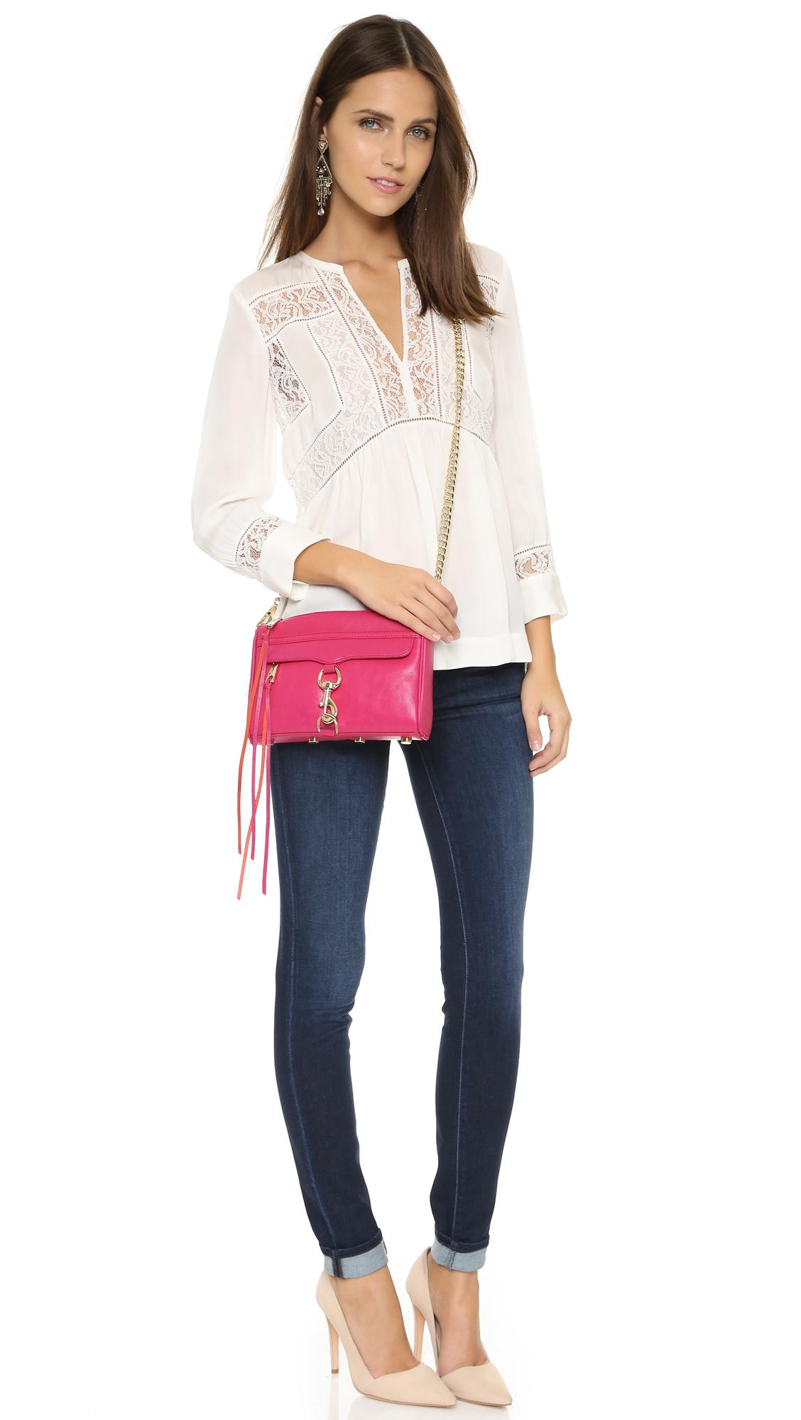 50c7eedfe871 Lyst - Rebecca Minkoff Mini Mac Cross Body Bag - Bright Fuchsia in Pink