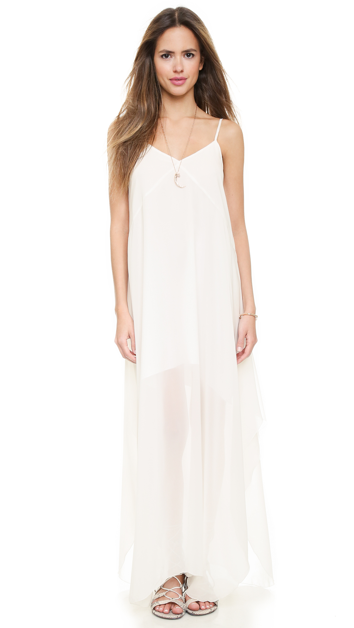 bc2bcea03b9d Lovers + Friends Curaca Maxi Slip Dress - Ivory in White - Lyst