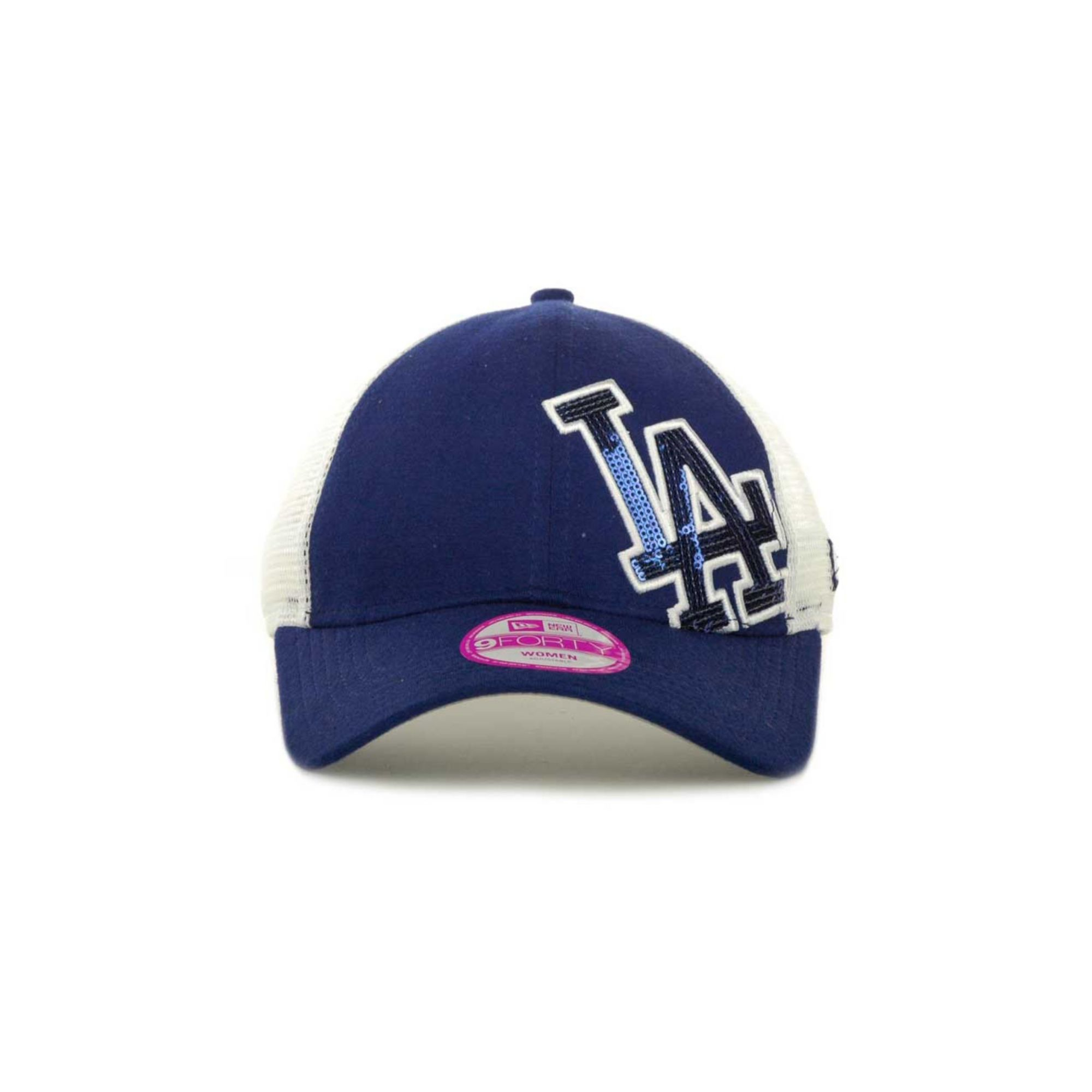 ktz womens los angeles dodgers sequin shimmer 9forty cap