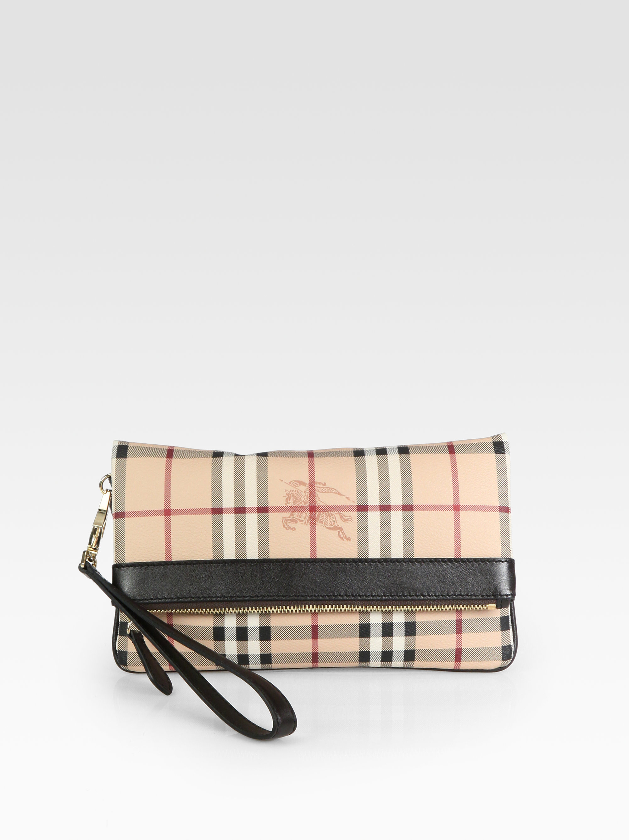 22db28d9638c Lyst - Burberry Adeline Clutch in Natural