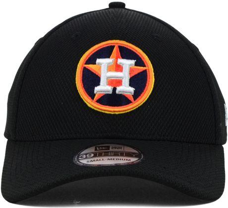 New Era Houston Astros Diamond Era Black 39thirty Cap In
