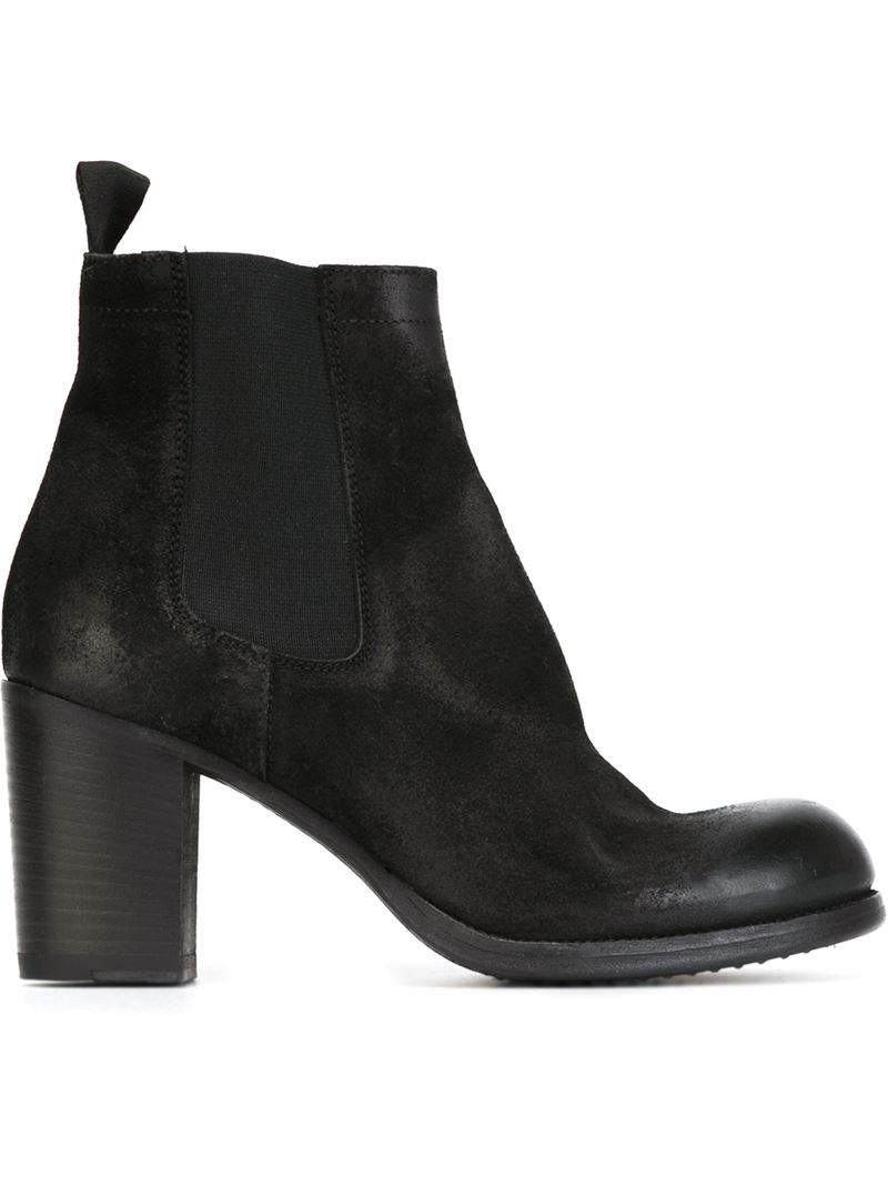 pantanetti chunky heel ankle boots in black lyst