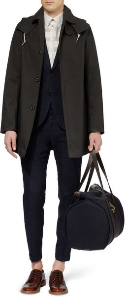 Mackintosh Dunoon Handmade Bonded Cotton Hooded Rain Coat