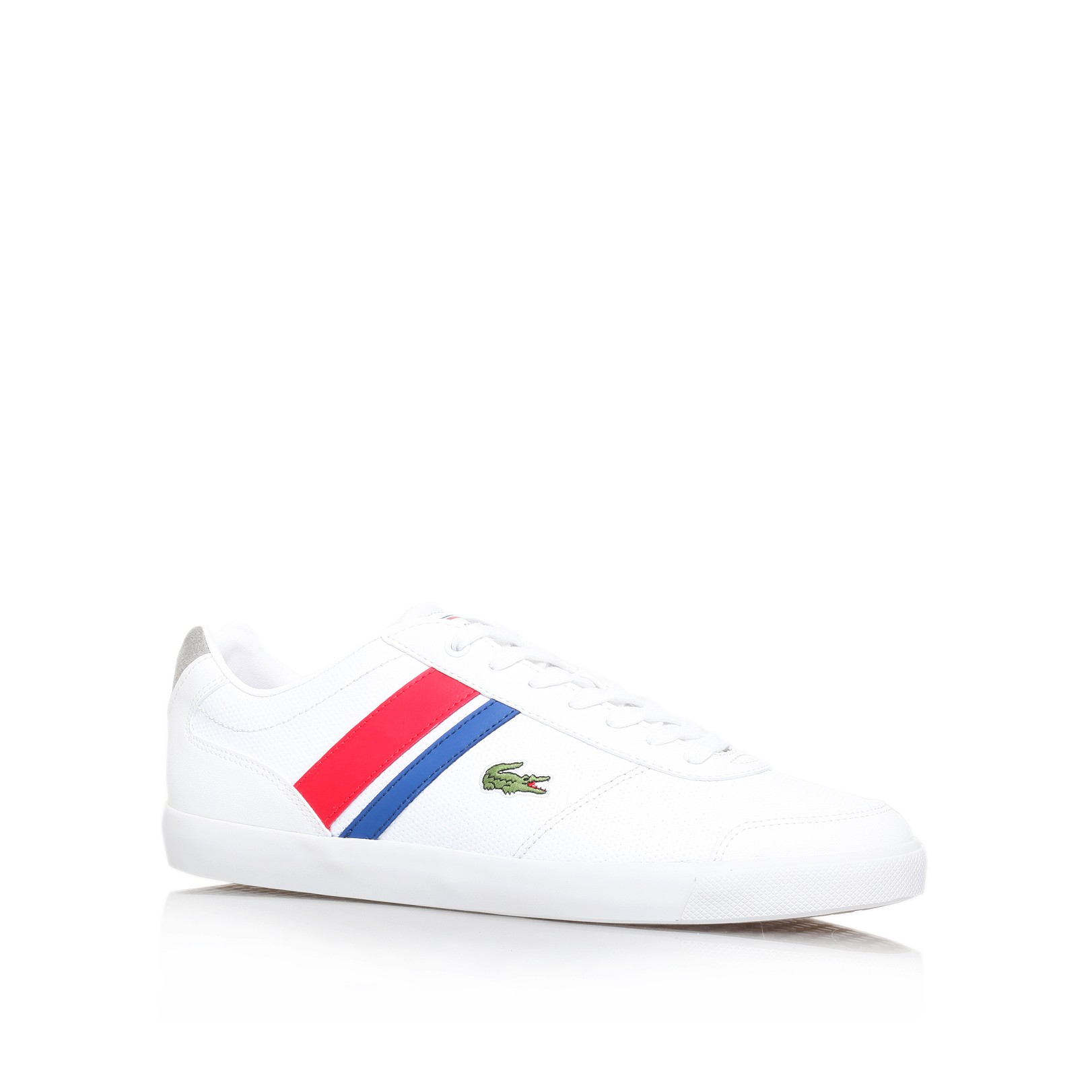 d9e62defdf7da Lacoste Comba Pri Spm Wht Red in White for Men - Lyst