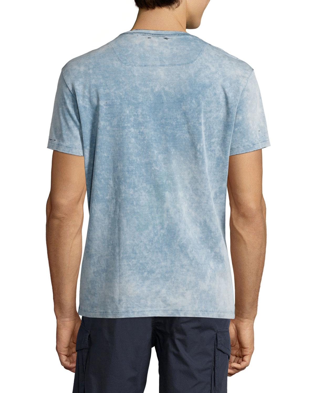 Diesel Washed Tie Dye Short Sleeve T Shirt In Blue For Men