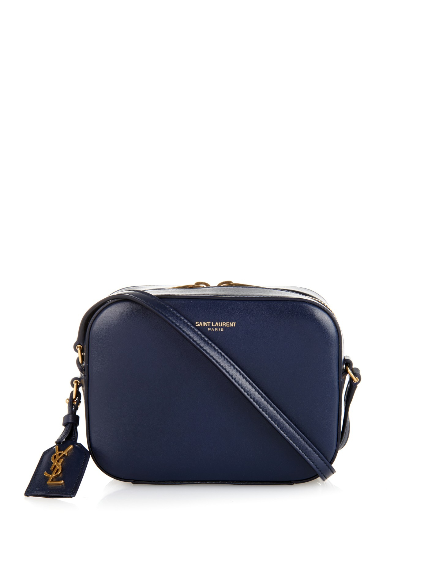 Saint Laurent Small Leather Camera Bag in Blue - Lyst 7130b2055bde6