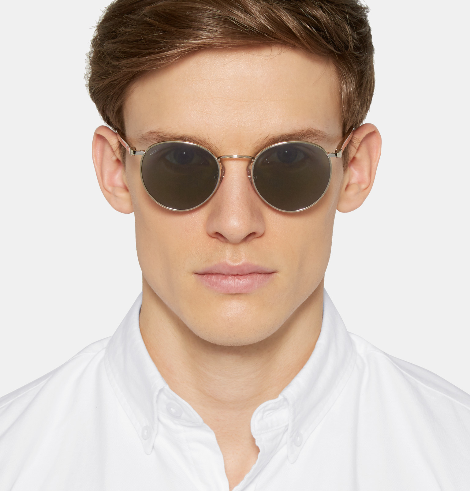 In Frame Men Round Persol Metallic Tone Lyst For Sunglasses Silver SxXSgUw