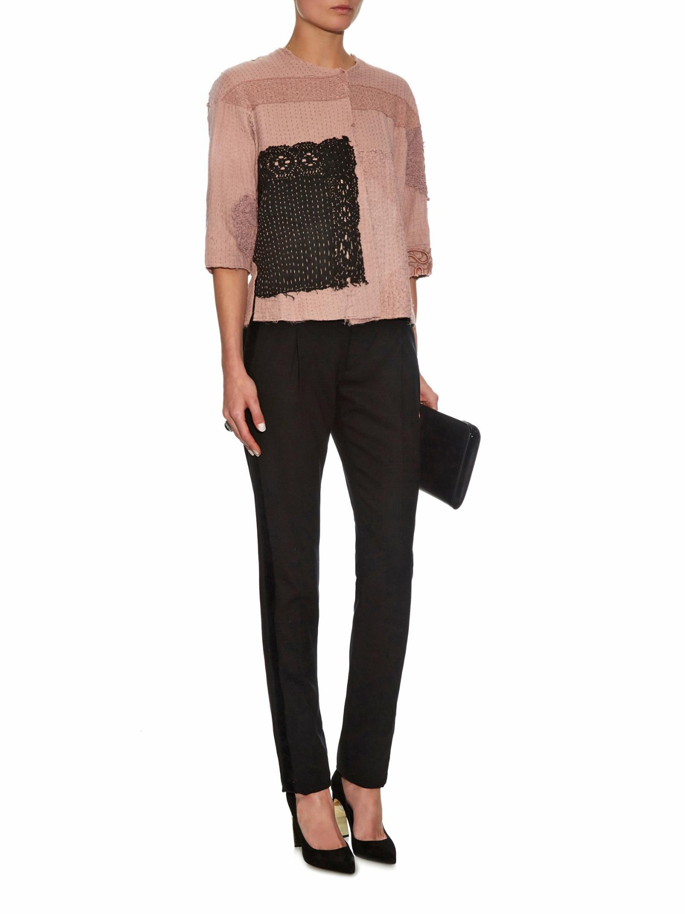 Lyst by walid vintage embroidered jacket in pink