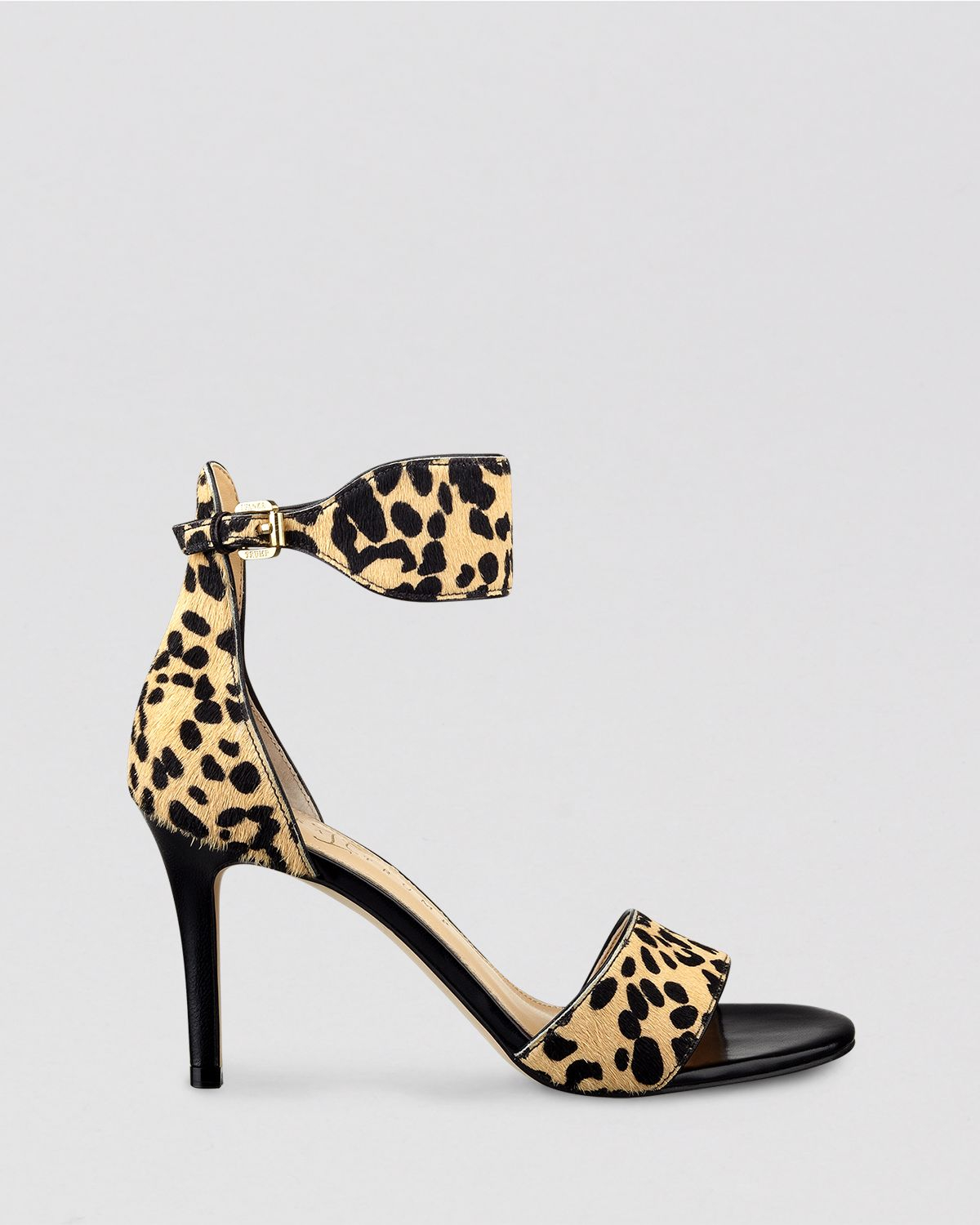 Ivanka Trump Open Toe Sandals - Gelana Leopard Print High Heel in ...