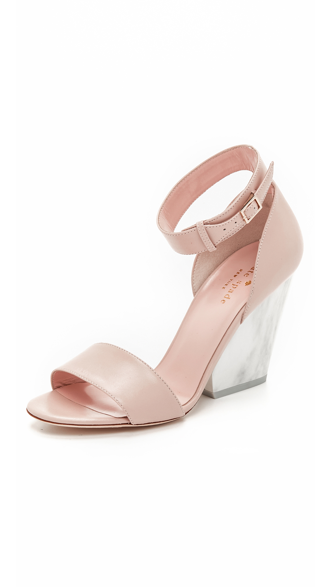 789e7878322 Lyst - Kate Spade Indiana Wedge Sandals in Pink