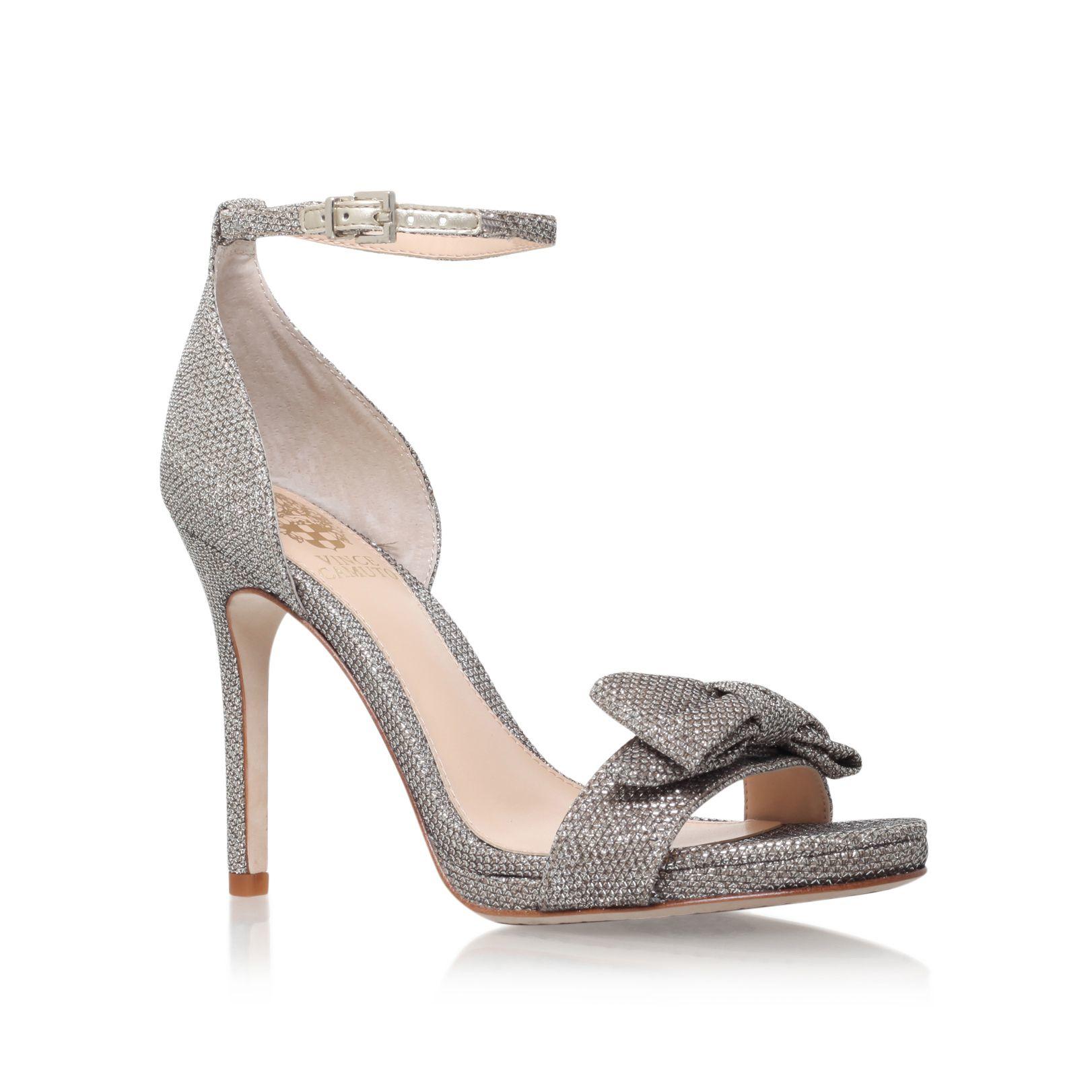 Vince Camuto Rizma High Heel Sandals In Metallic Lyst