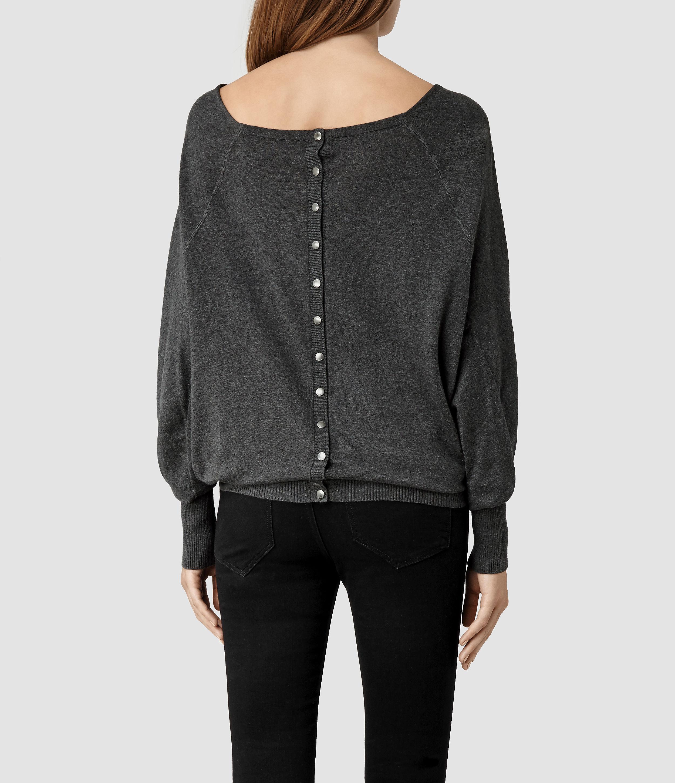 Allsaints Elgar Cowl Neck Sweater in Gray | Lyst