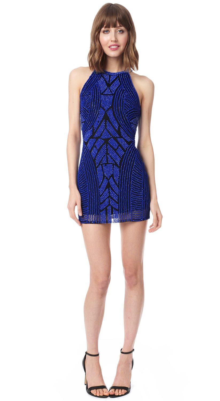 3d52a40a622 Lyst - Parker Audrey Dress in Blue