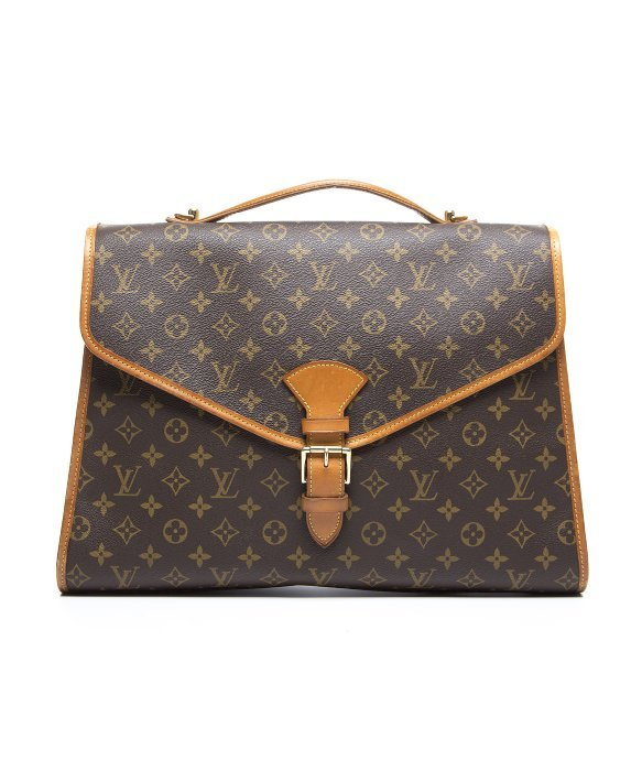 Louis Vuitton Trash Bags Gallery Louis Vuitton Pre Owned Monogram Canvas Beverly Gm Bag In Brown Lyst