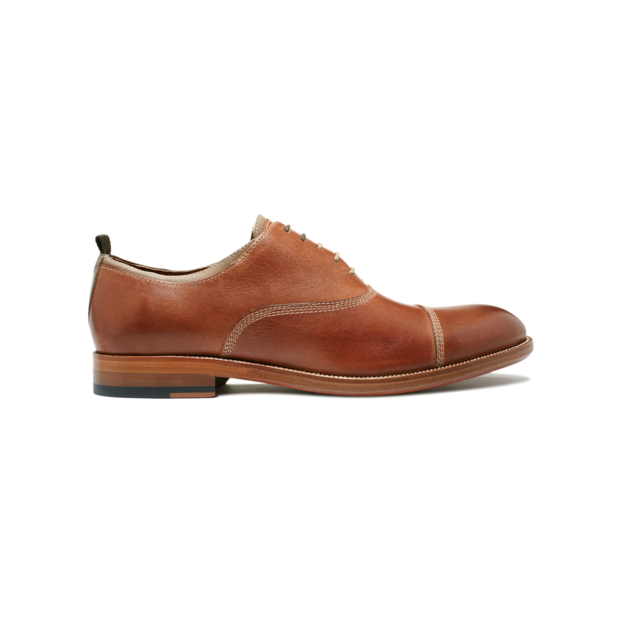 Johnston Murphy Shoes Clayton Cap Toe Lace Shoes