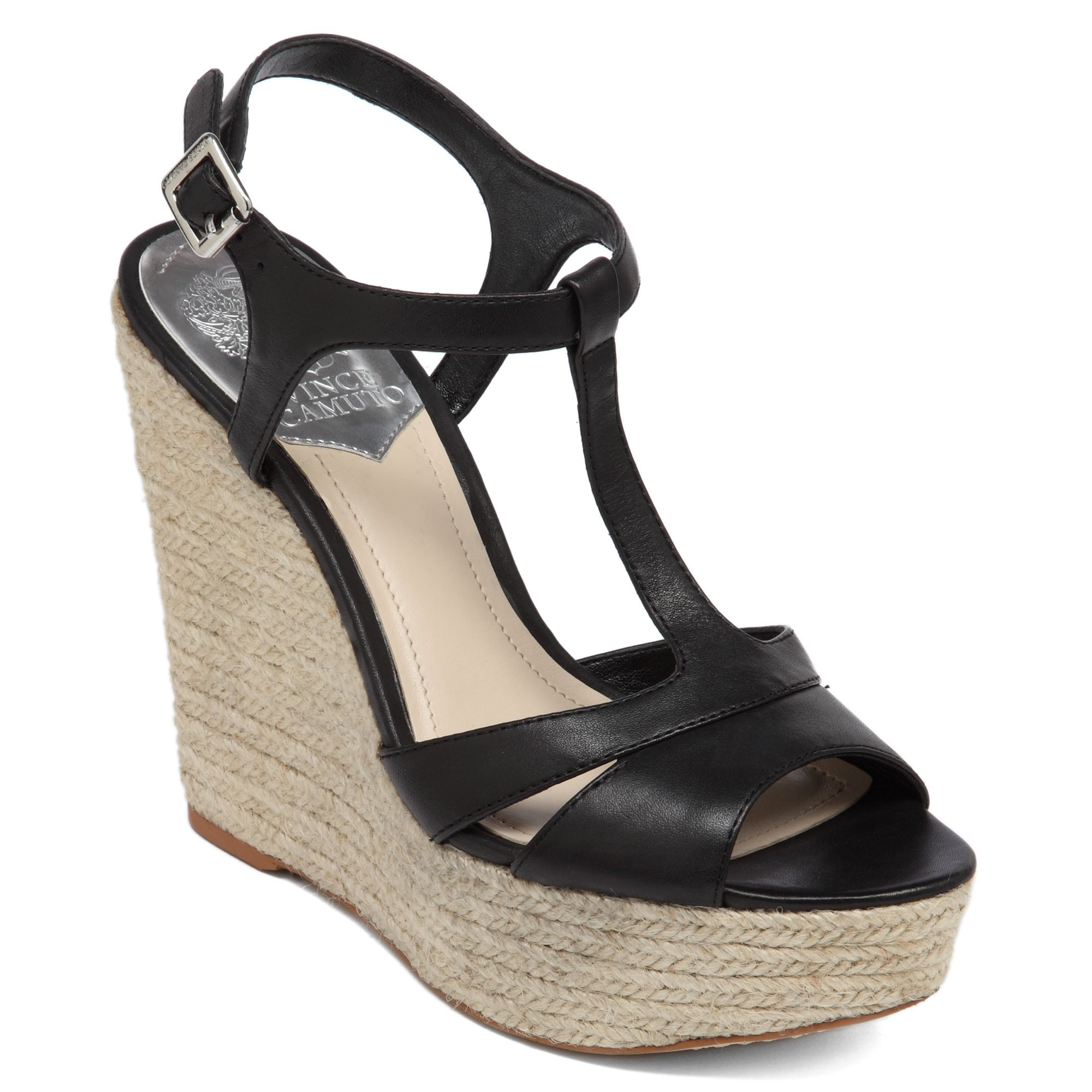 Vince Camuto Inslo2 Platform Wedge Sandals In Black Lyst