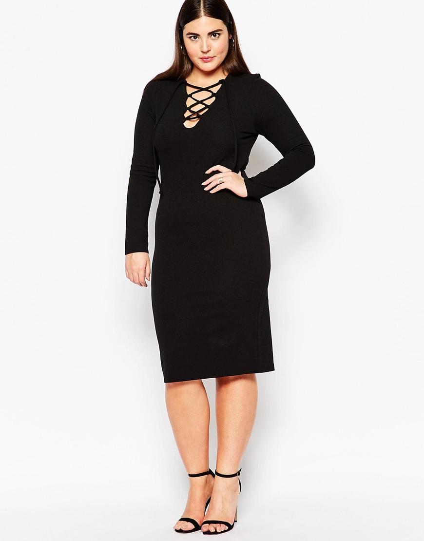 Black Lace Midi Dress Plus Size - raveitsafe
