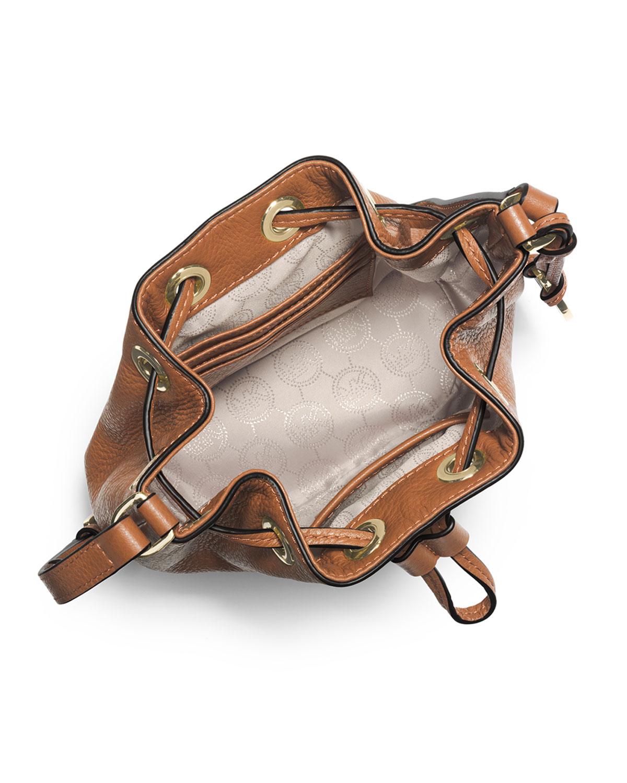 6a3b509520dbb4 ... best lyst michael michael kors jules drawstring crossbody bag in brown  73c4c 5eb18 ...