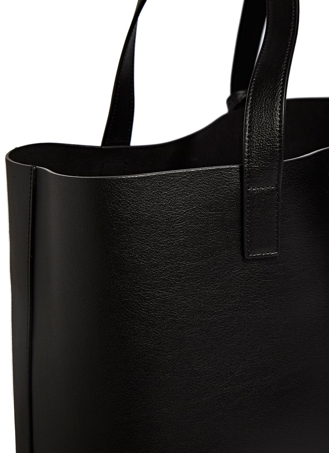 Saint laurent Muflone Leather Shopping Bag in Black for Men | Lyst