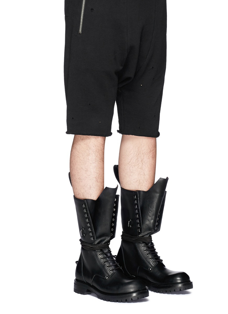 affordable Rick Owens lace-up army boots authentic cheap sale outlet pay with paypal sale online outlet supply dRKiuCqMBJ