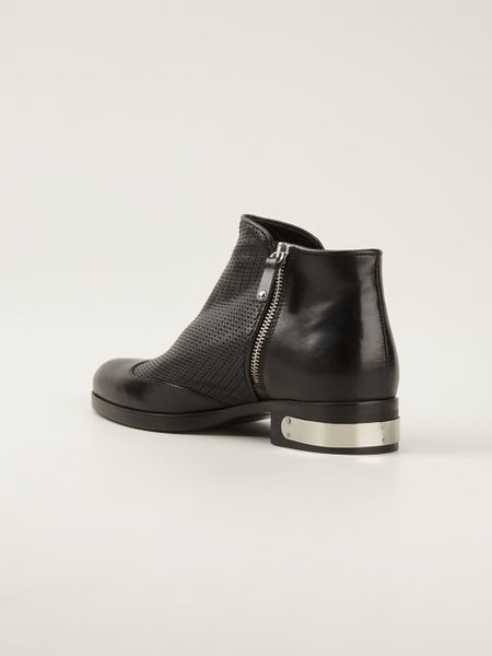 diesel black gold capped heel ankle boots in black lyst