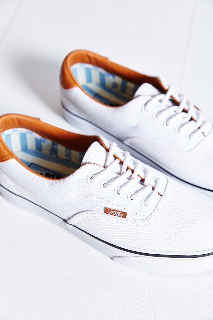 Lyst Vans Era 59 Washed Canvas Leather Sneaker In White