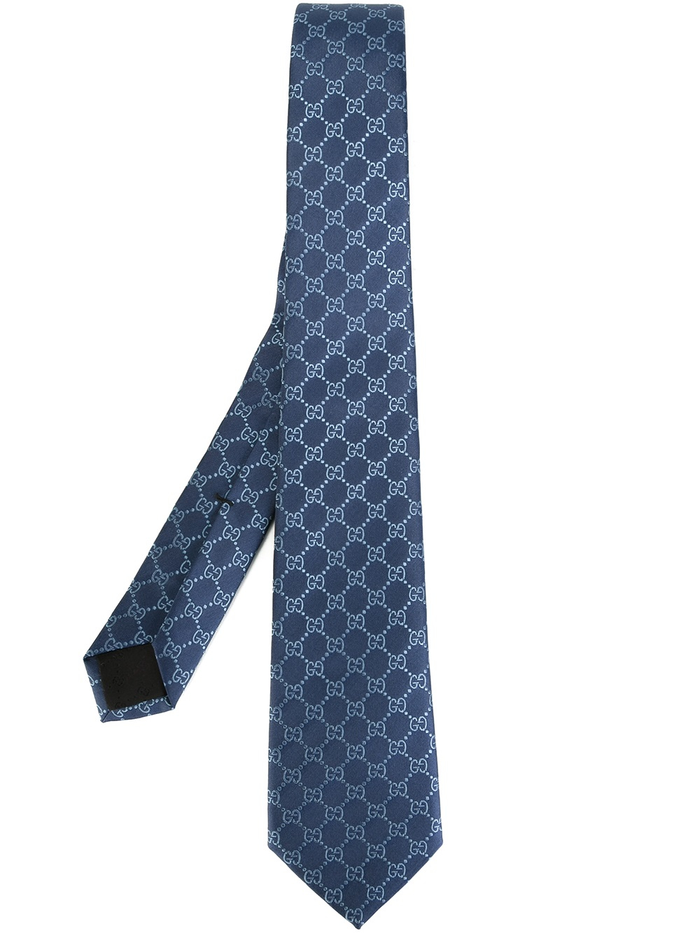 77cbe0d4a0c59 Lyst - Gucci Gg Pattern Silk Jacquard Tie in Blue for Men