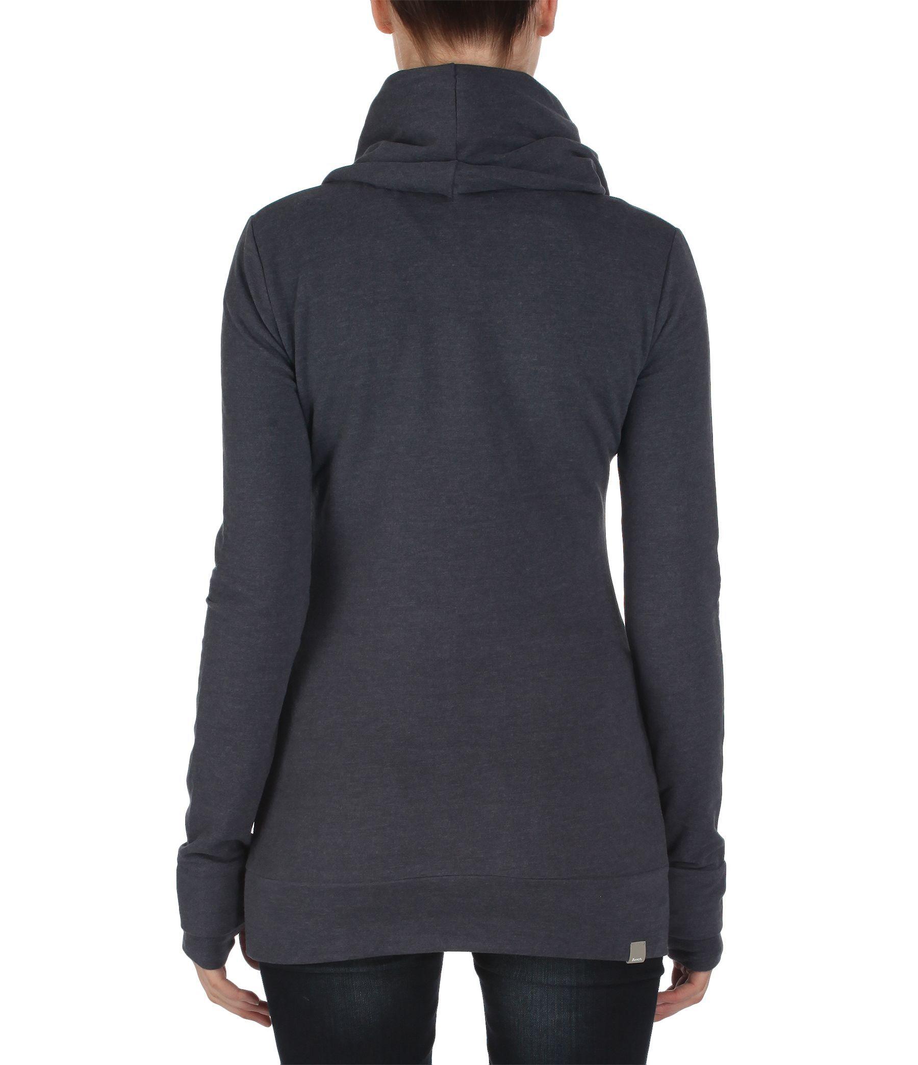 Bench Oatlands Ii Long Cowl Neck Sweatshirt In Blue Navy Lyst