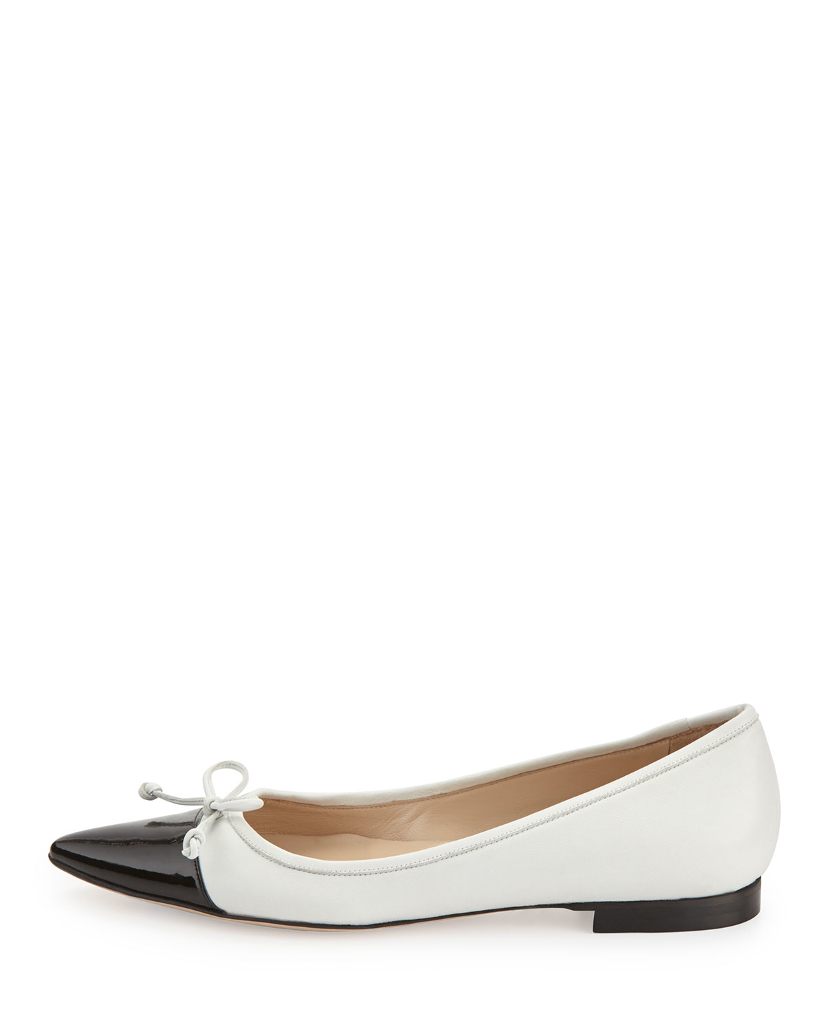 532d543f5ad8 ... authentic lyst manolo blahnik wendy pointed toe ballerina flat in black  73ad0 ca45a