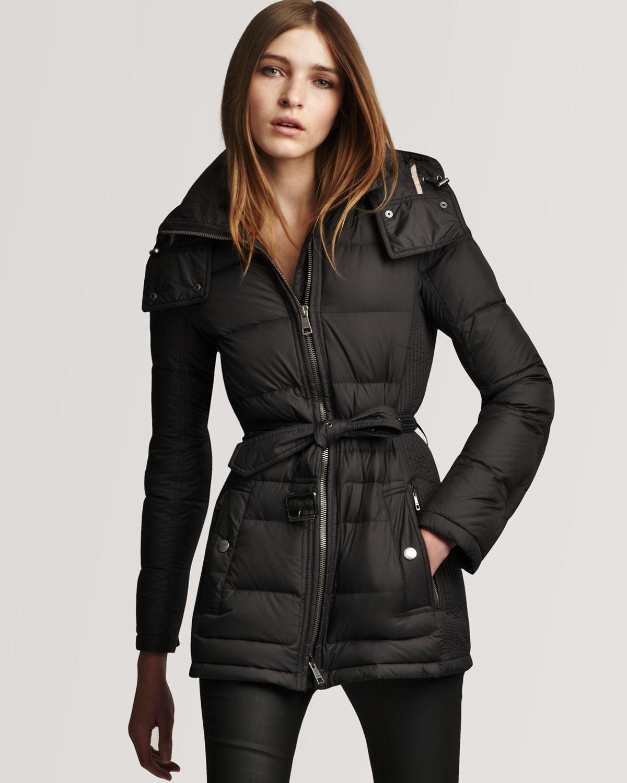 Lyst - Burberry Brit Down Puffer Coat in Black 5d55f24f5
