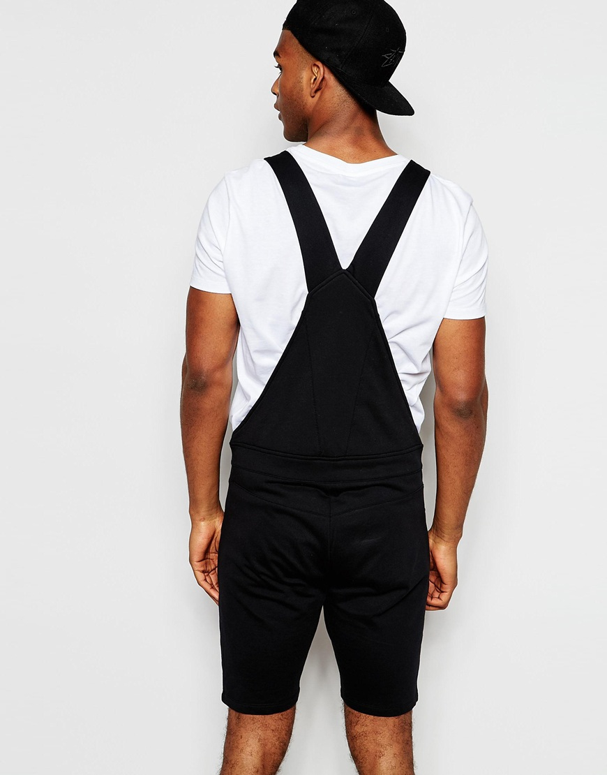 6343b277f94c Lyst - ASOS Jersey Overalls In Black in Black for Men